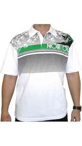 Nicoboco Surf wear polo hombre manga corta FLAME BLANCO color 100 blanco talla XL U185