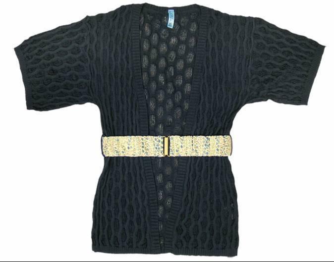 Stix Casual chaqueta larga punto mujer 71303 azul - moda mujer