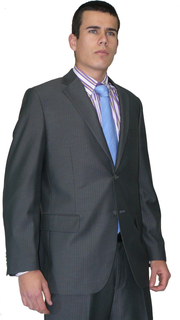 hombre traje gris sloan wilson: