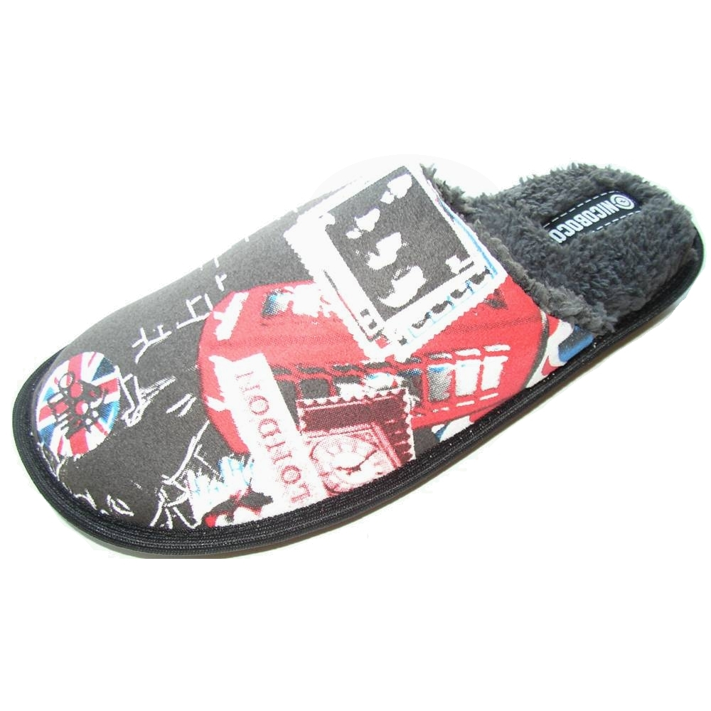 Zapatillas casa hombre nicoboco england 16 913p negro - Zapatillas para casa ...