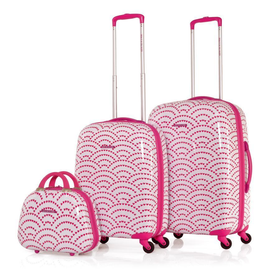 luggage set set trolleys agatha ruiz de la prada fuchsia travel accessories. Black Bedroom Furniture Sets. Home Design Ideas