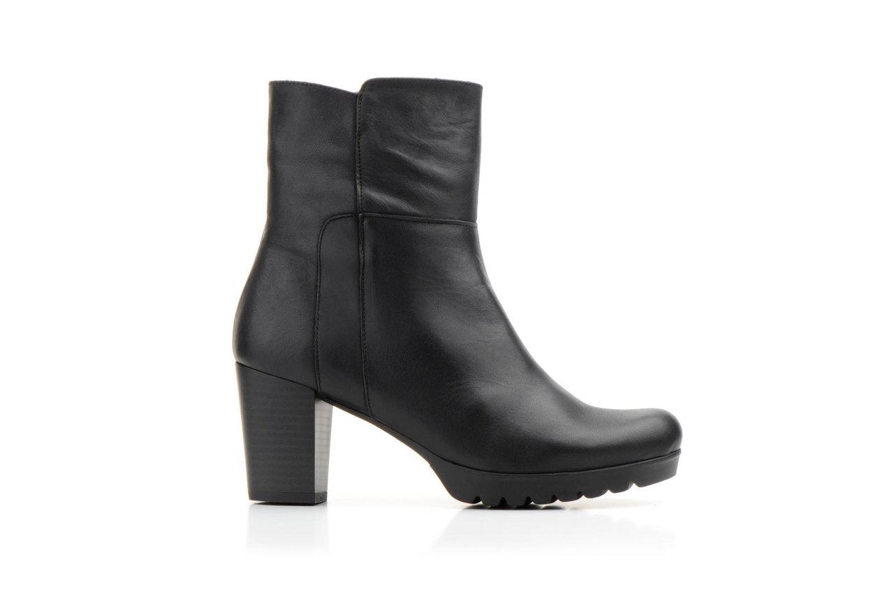 Stiefel Weiblich Haut   Heel Stiefel Zipper   Schwarz   Made in Spain 1d233fbe2b