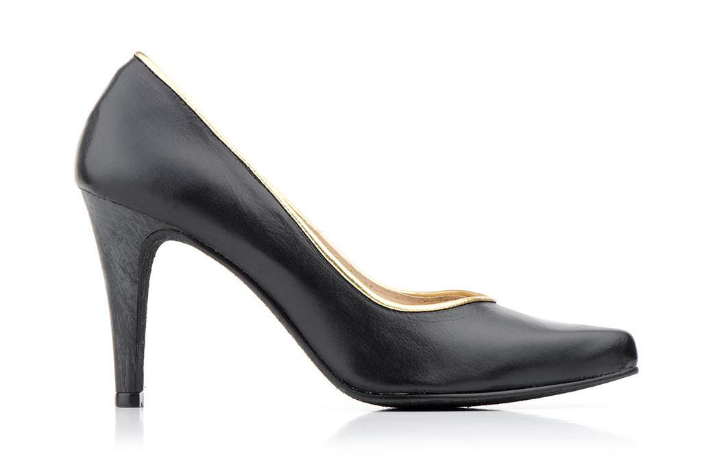 8a826e34 Zapatos Salón Mujer Piel Negro Tacón Alto   Fabricado en España
