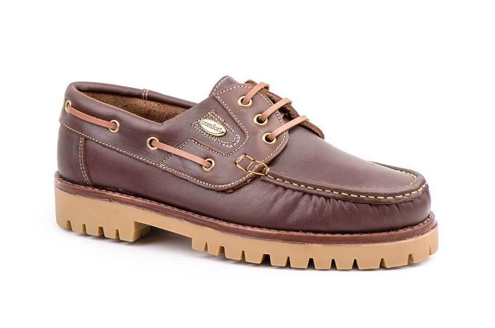 Zapatos Kiowa Hombre Piel Marrón Cordones Náuticos  a5492540e87fd