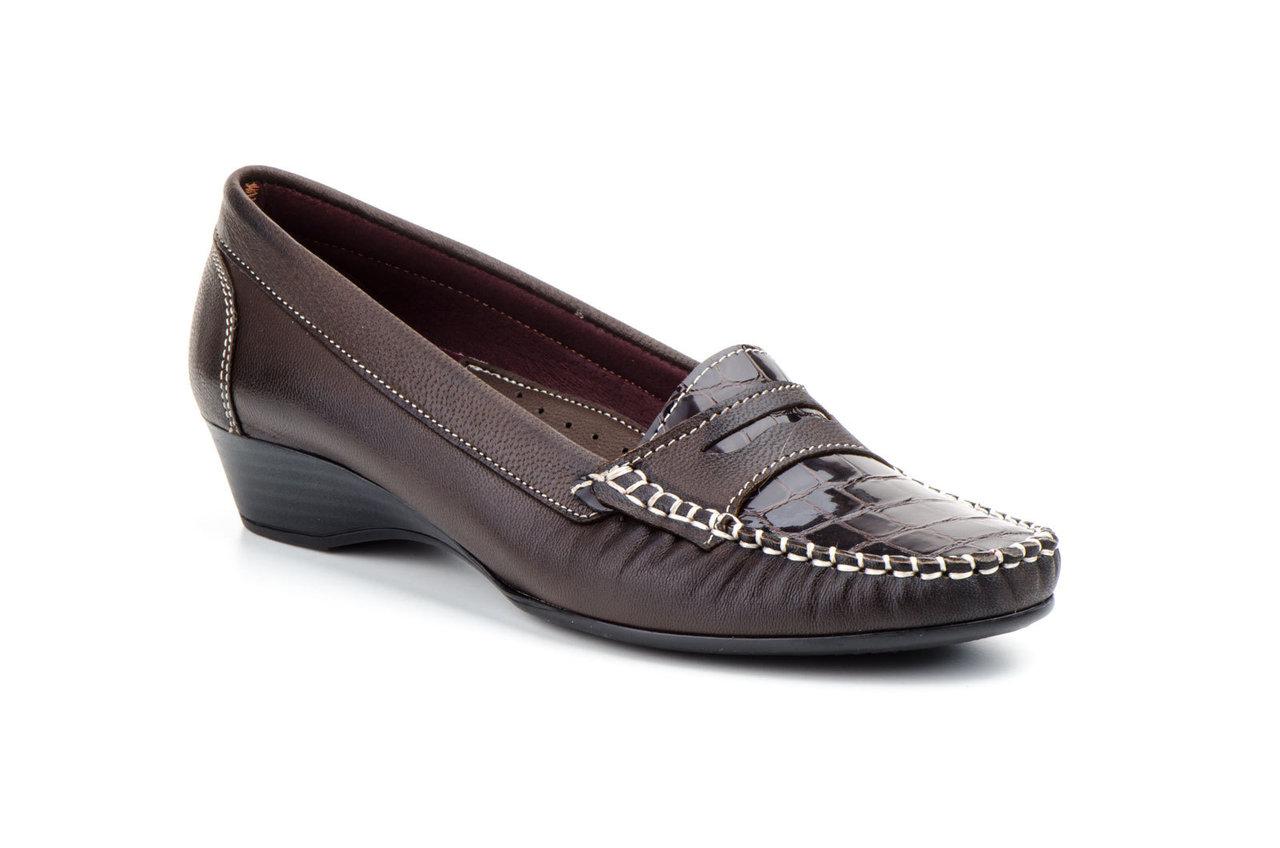 Kiowa Mujer Piel España Marrón En Zapatos CuñaFabricado 0Nv8mnw