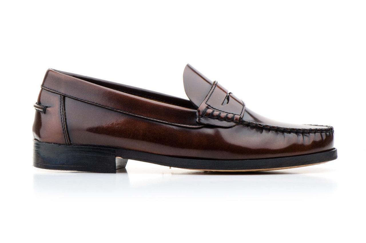 Cuero Piel Suela 39 Hombre Zapatos de Mocasines Avellana 45 Xp7wnx