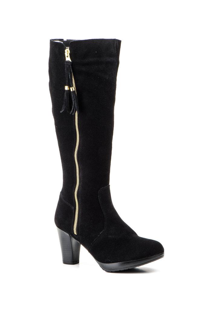 ad96ff9f0a7e Kvindelige høje støvler