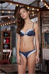 Sujetador azul Push Up y Braga azul encaje | I LOVE YOU | 44470