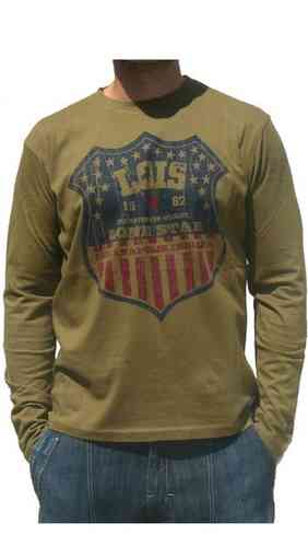 9826dff4cda Lois camiseta cuello redondo hombre Premium Lois color 401 blanco ...