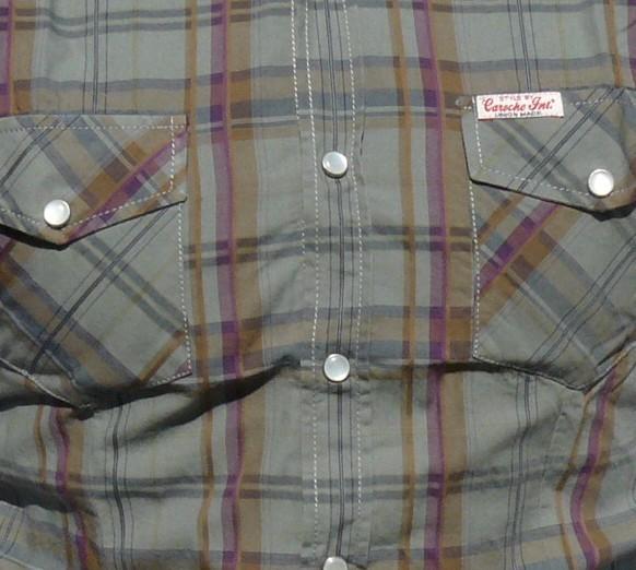 ... Caroche camisa manga corta cuadros hombre 01C 3004127 gris talla XL ... 7ad802eb8e674