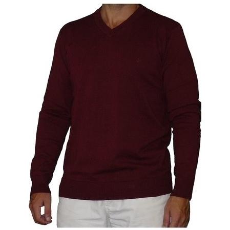d2acc76086d Caster jeans | jersey punto cuello pico | Pol | color burdeos | talla XXL