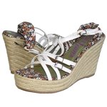 Lois Wedge Sandal chaussures femmes blanc taille 81 243 EUR 36 USA 4.5 UK 3.5