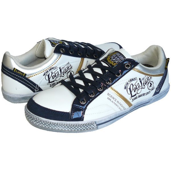 Lois calzado zapatilla deportiva hombre 81282 blanco marino 89f40cf27c4