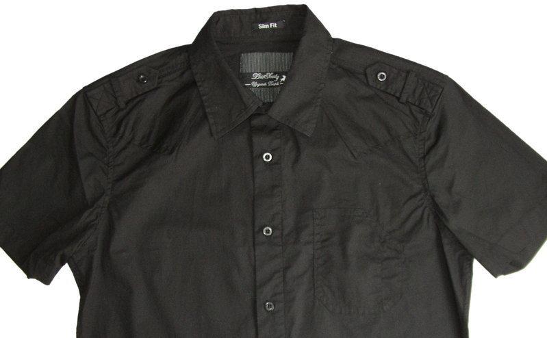 ... Lois Jeans camisa manga corta hombre Marquesado Goran color negro talla  XXL 0528ef266b2f5