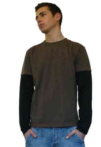 Stix Casual camiseta manga larga hombre 90416 color marron talla L