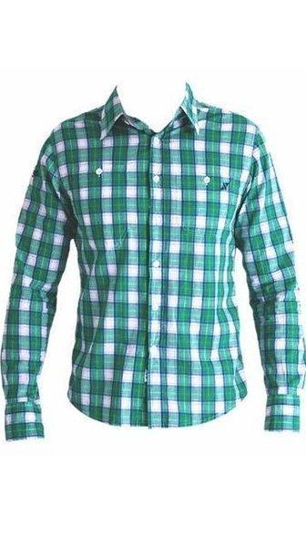 STIX CASUAL camisa cuadros manga larga 50210 color 777 verde talla ... ea345841273db