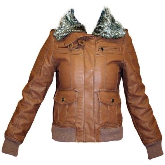 Stix Casual chaqueta mujer 61010 poli piel color marrón  ce06e3925ac2