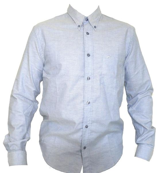 New Azul Jeans Siena Larga Claro Caroche Oxo Manga Camisa Hombre YRPSqv