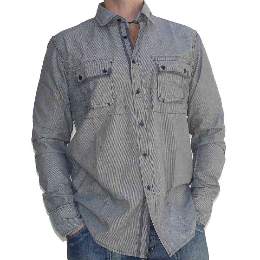 e6c84ff573a6 Unnati | Camisa rayas hombre | manga larga | 1806 c18 talla XXXL ...