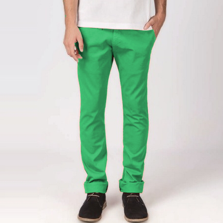 Chino Trousers Men | elastic | Arnold Atenas | Green | Caster Jeans