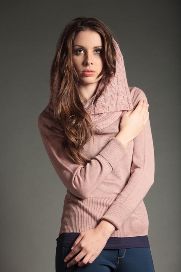 2647fc93dd3e Jersey Punto Mujer | Cuello lana | Color rosa | Caster Jeans
