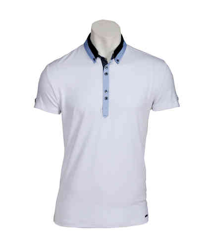 Man Short Sleeve Polo | Polo Dress | Weiß Farbe | 9845