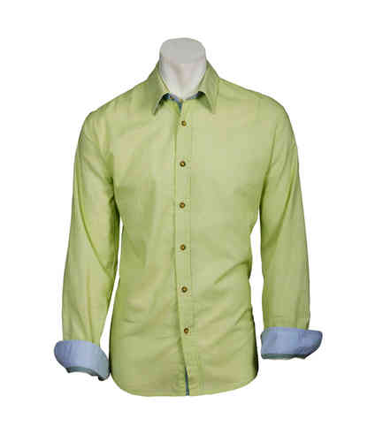 Man Shirt | Summer Shirts | Color lemon yellow | 0812