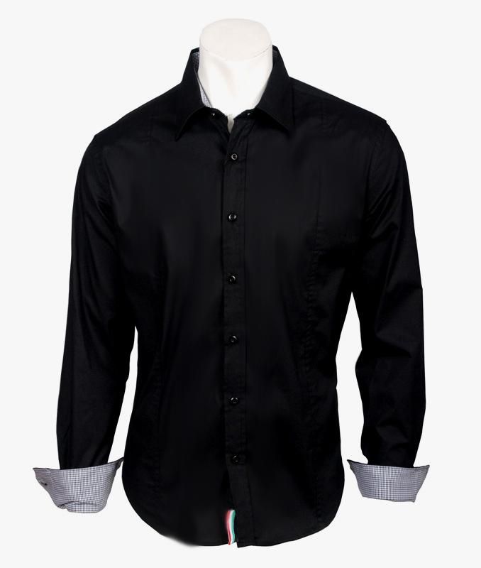 Camisa hombre | Camisas verano | Color negro | Marca Tempo