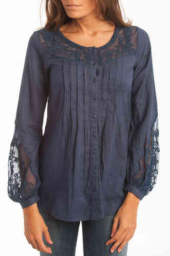 Blue Womens Blouse | Lois |  Viuda Negra 261