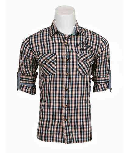 Man plaid shirt | shirt (Seaport) | black Color | 0121