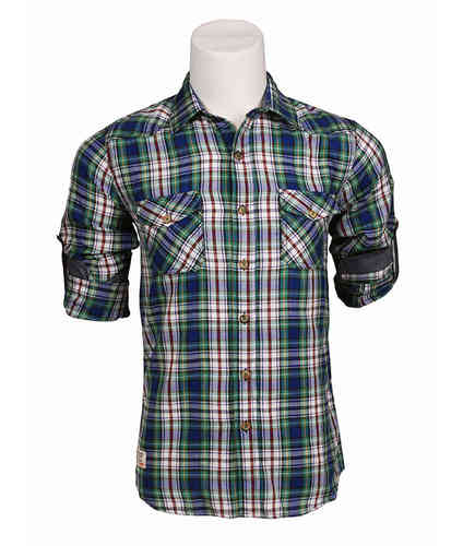 Man plaid shirt | shirt (Seaport) | Green Color | 123