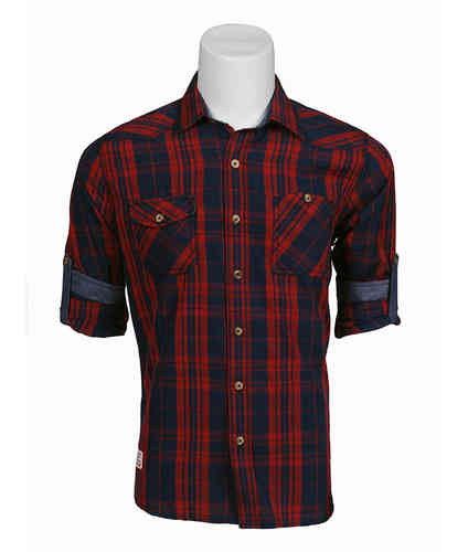 Man plaid shirt | shirt (Seaport) | Red Color | 0122