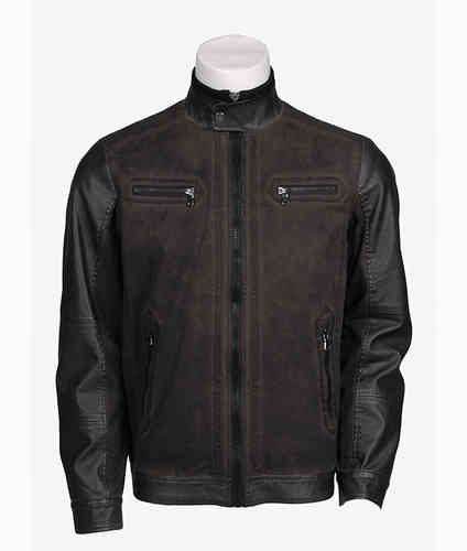 Leather Jacket Man | 4118 Seaport | svart Färg