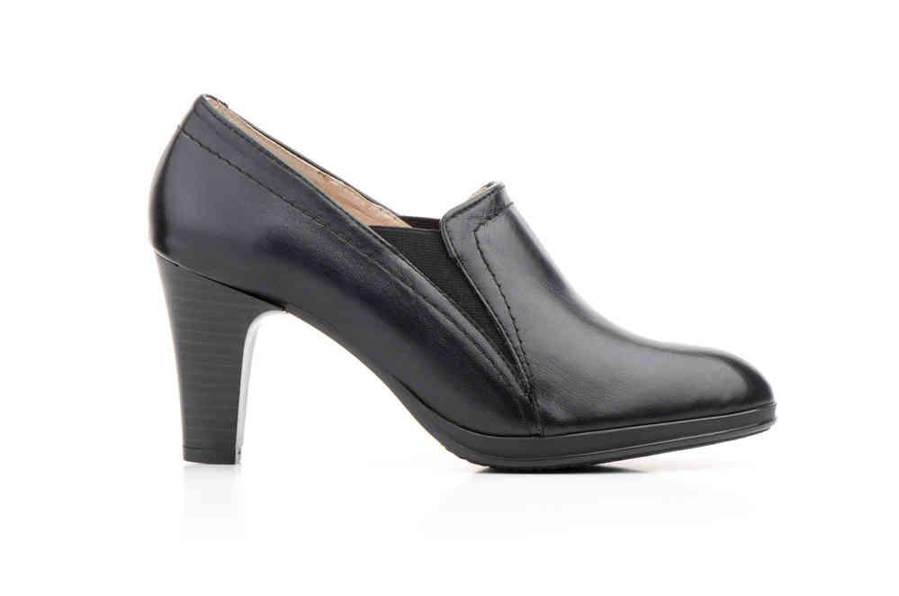 Negro Zapatos En Fabricado Plataforma Mujer Elásticos Piel Tacón qwEAFZw