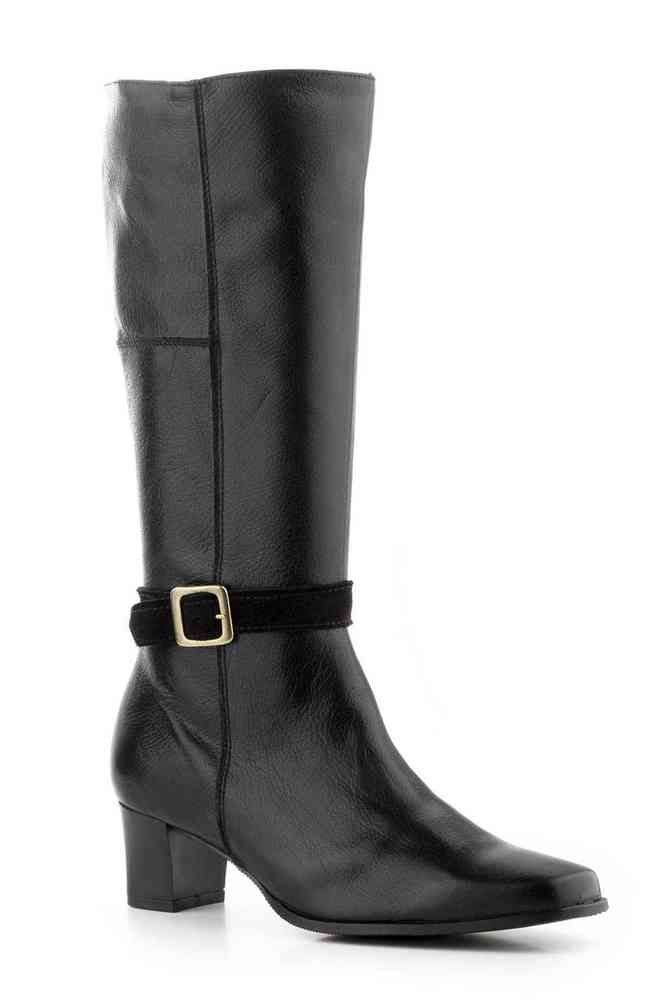 Negro Calzado Mujer Color Altas Piel Botas 1020 Ref B1wRxY