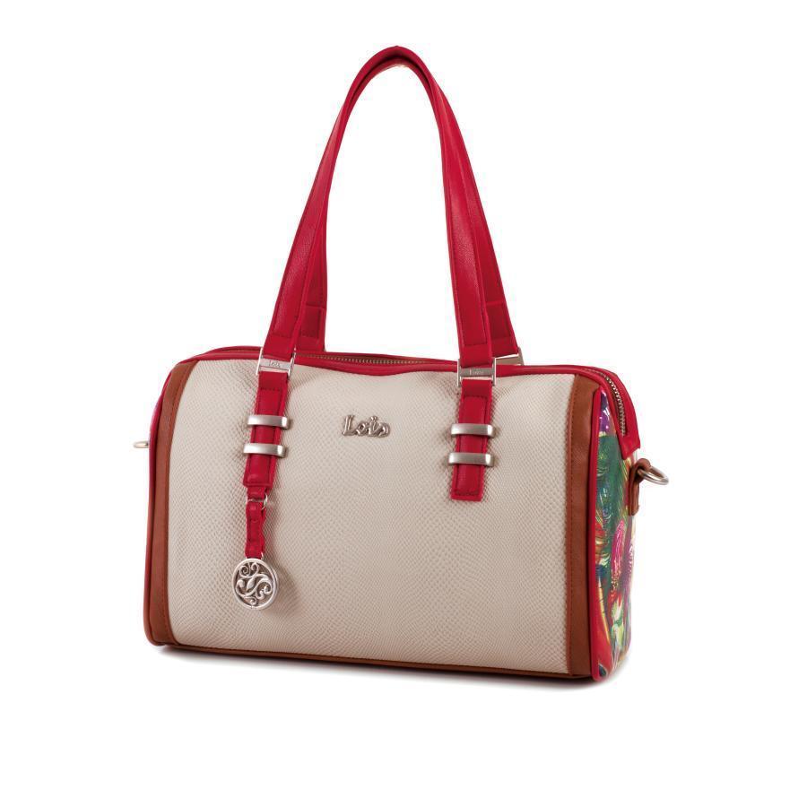 Bolso Bandolera Lois Mujer   Color 1 Rojo   Ars43831 01