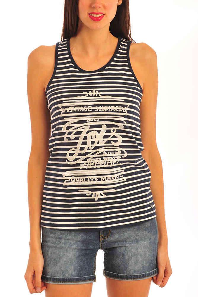 Tirantes Rayas MujerLois Boreal Camiseta Laguna ARq5jL34