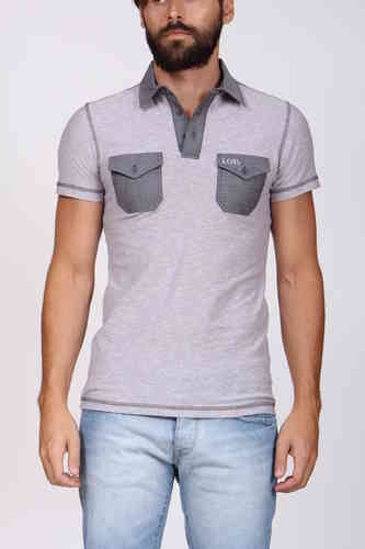 Man Short Sleeve Polo | Polo Dress Lois | White | 3569