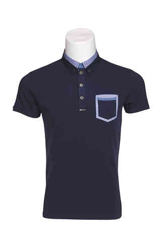Men Kurzarm Polo | Polo Dress | Blau Farbe | 9360