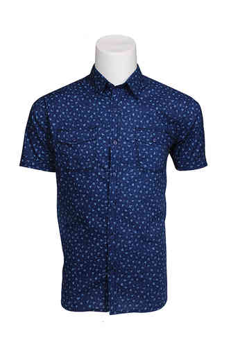 Blauw shirt man | Seaport shirt | 339999