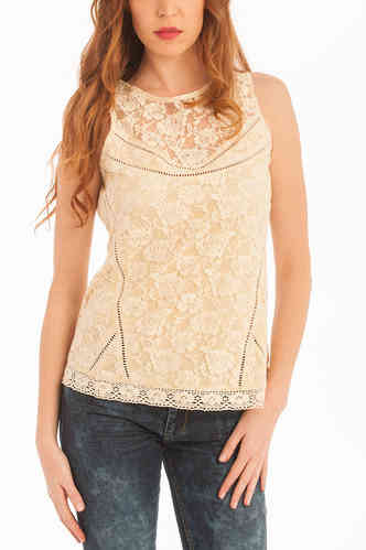Victorio and Lucchino | Top Lace Women | Beige