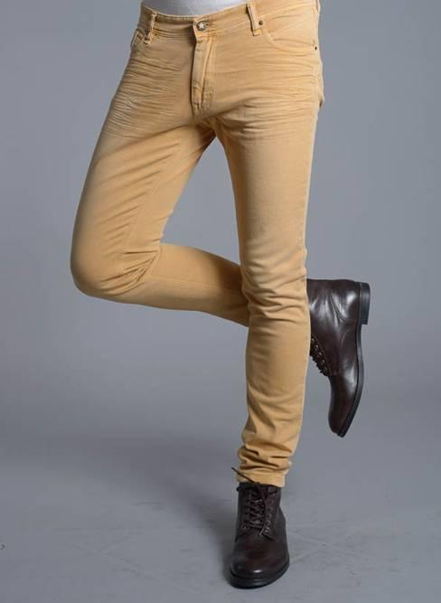 Skinny Pants Man Caster Jeans Teak Auklan Mustard