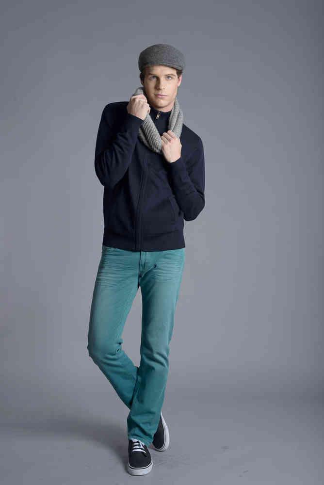 Pantalón Pitillo Hombre   Caster Jeans   Teak Auklan   Verde
