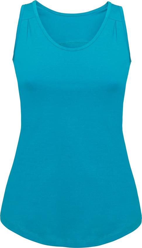 Camiseta deportiva tirantes Mujer Color azul celeste entallada