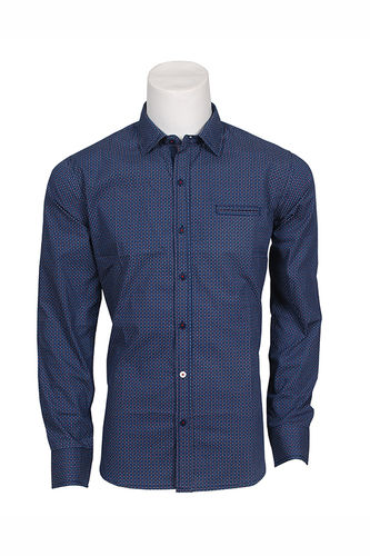 Man print shirt | Seaport | Blue | 0714