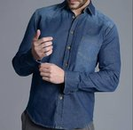 Denim shirt man | Caster | Mulblue
