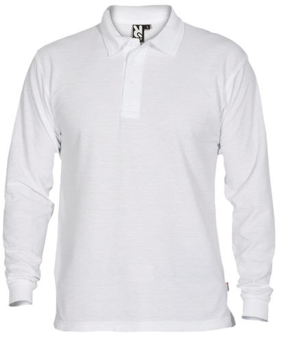 Polo homme | Manches longues | PO5009 | Blanc