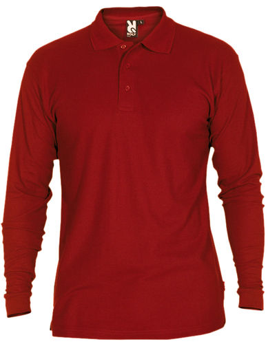 Polo homme | Manches longues | PO5009 | Grenat