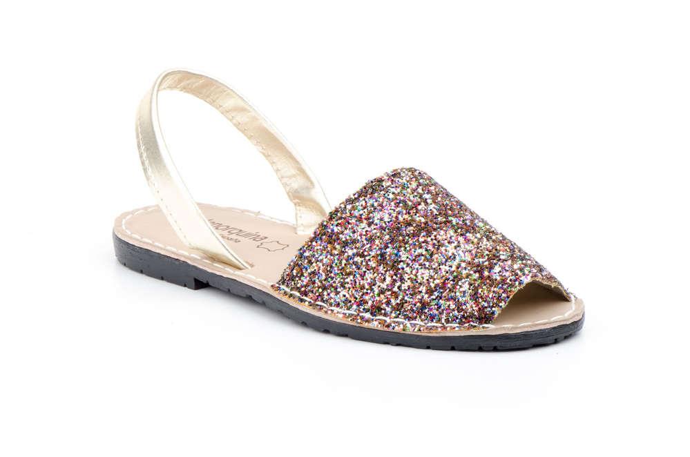 a657d6b5 Sandalias Alejandrinas Mujer | Tacón plano | Glitter Multi color