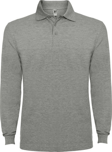 Polo homme | Manches longues | PO6635 | gris chiné